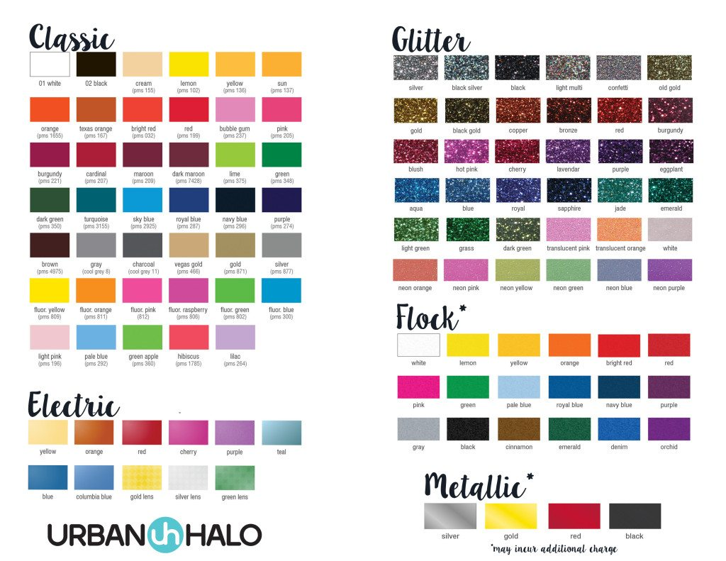 Custom Design Color Chart